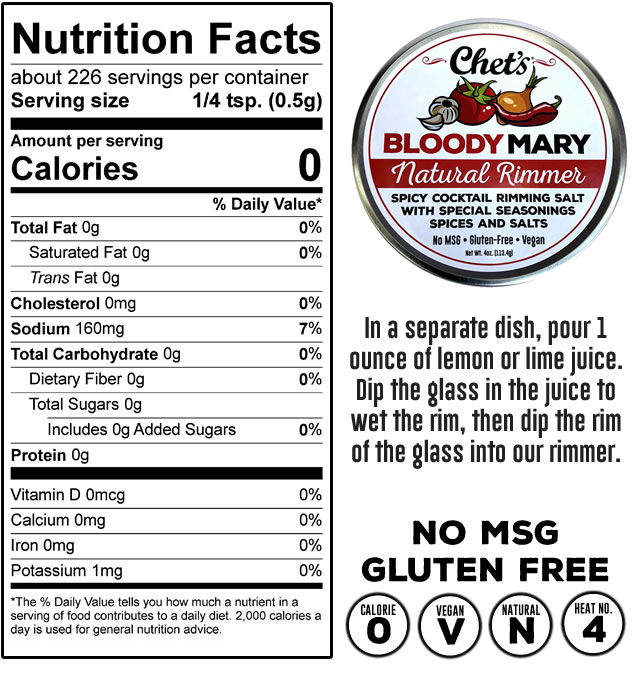 Cocktail Rimmer Nutrition Facts & Ingredients